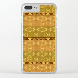 ethnic african pattern withAdinkra simbols Clear iPhone Case