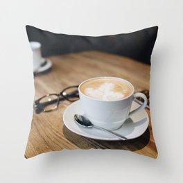Cappuccino Break Throw Pillow