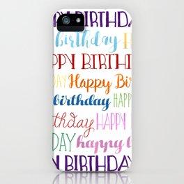 Happy Birthday | Fun & Bright iPhone Case