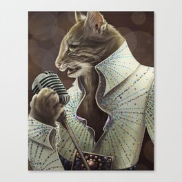 Elvis Petme Canvas Print