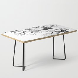 Cherry Blossoms Minimal Drawing Coffee Table