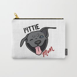 Blue Pittie Mom Carry-All Pouch