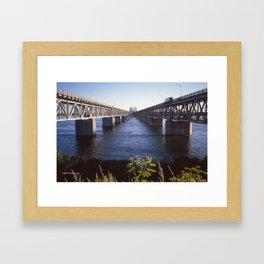 Raid Canada: Honoré-Mercier Bridge Framed Art Print