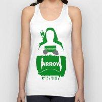 green arrow Tank Tops featuring Green Arrow by Sport_Designs