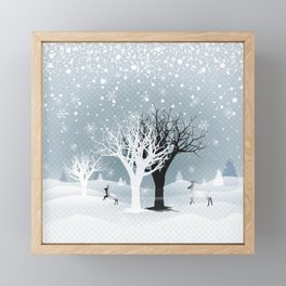 Winter Holiday Fairy Tale Fantasy Snowy Forest Collection Framed Mini Art Print