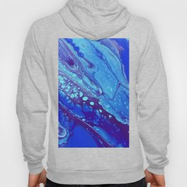 Abstract acrylic flow art in purple, blue and teal Hoody