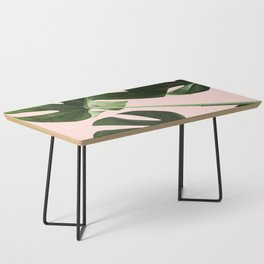 Monstera x Pink Coffee Table