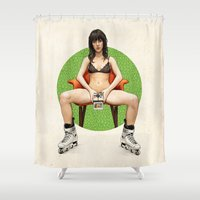 minnesota Shower Curtains featuring Miss Minnesota by keith p. rein