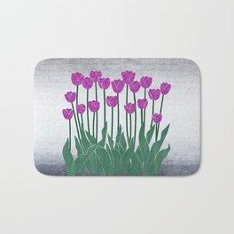 Magenta Tulips Bath Mat