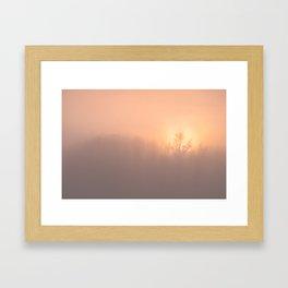 Ice Fog on the Bow Framed Art Print