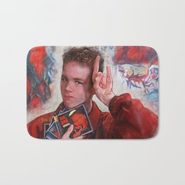 Painting Illustration Of Warren From The Cult Classic Movie Empire Records Bath Mat