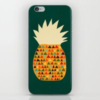 pineapple iPhone & iPod Skins featuring Pineapple by Picomodi