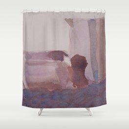 Monochrome Still Life Shower Curtain