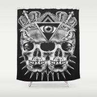 illuminati Shower Curtains featuring Illuminati I by NOXBIL
