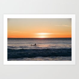 Surfer at Dusk Art Print
