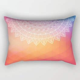 colorful indi pattern, boho print, peach white, henna, beautiful boho, bright popular design Rectangular Pillow