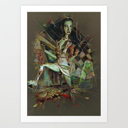 Brookhaven Nurse Art Print