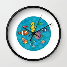 Tiny Aquarium Wall Clock