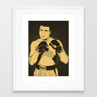 ali Framed Art Prints featuring Ali by Renan Lacerda