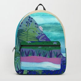 Sailing by Tropical Islands Backpack