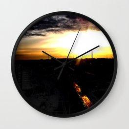 Fire in the sky(1) Wall Clock