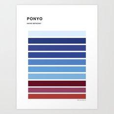 The colors of - Ponyo Art Print