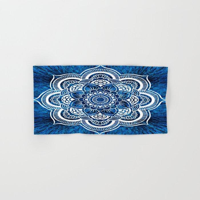 Mandala Cerulean Blue Colorburst Hand & Bath Towel