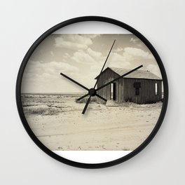 Abandoned Dust Bowl Home  Wall Clock