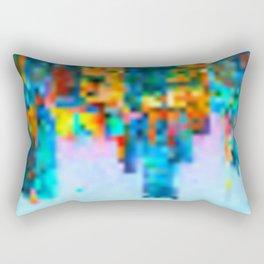 Colorful Pixel Art Print Rectangular Pillow