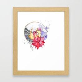 Merry Christmas, Deer Framed Art Print