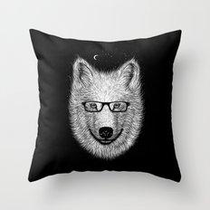 WHITE SPECTACLE Throw Pillow