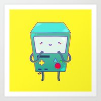 beemo Art Prints featuring BEEMO by Meder Taab