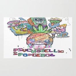 Psychedelic SpongeBob SquarePants Rug