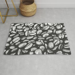 roasted coffee beans texture acrbw Rug