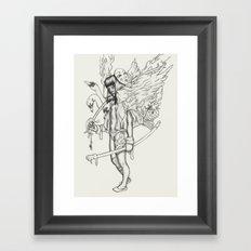 Sword and Swan Framed Art Print
