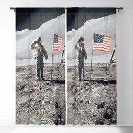 Apollo 15 - Dave Scott Military Salute Blackout Curtain