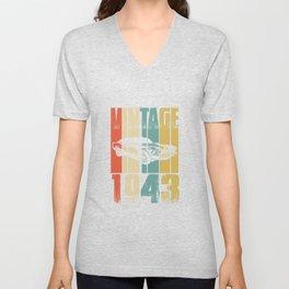Vintage Retro 1943 T-Shirt Unisex V-Neck