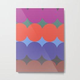 ALMA POP - Mid Century Modern Pattern Graphic Design Metal Print