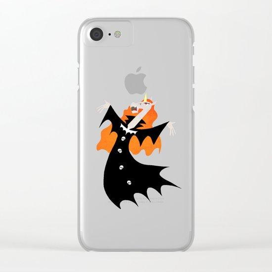Unicorn Vampire Clear iPhone Case