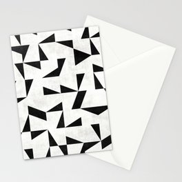 Mid-Century Modern Pattern No.11 - Black and White Stationery Cards
