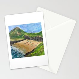 On the beach Mwnt West Wales  Stationery Cards