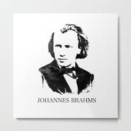 Johannes Brahms Metal Print