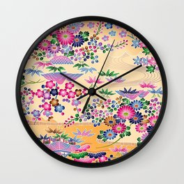SUMI WITH PINK FLOWERS Wall Clock