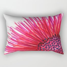Pink-Red Sun Flower Rectangular Pillow