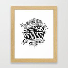 Quote - Dali 1 - Typedesign Framed Art Print