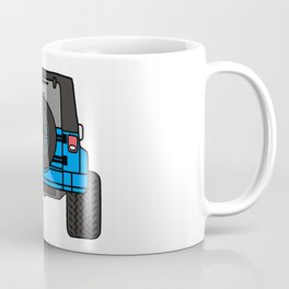 Jeep Wave Back View - Blue Jeep Coffee Mug