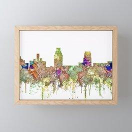 Camden, New Jersey Skyline SG - Faded Glory Framed Mini Art Print