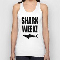 Shark week (on white) Unisex Tank Top