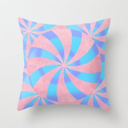 Psychedelic Candy Throw Pillow