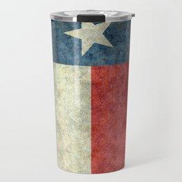 Texas flag, Retro style Vertical Banner Travel Mug